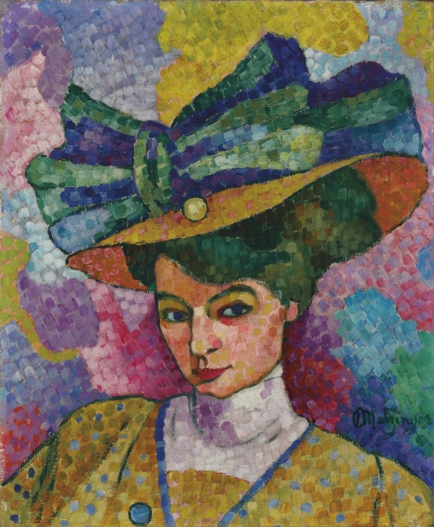 WOMAN IN HAT ART - JEAN METZINGER - PUB DOM