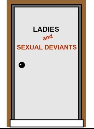 BATHROOM DOOR FOR DEVIANTS