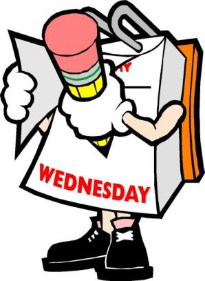 CARTOON WEDNESDAY TEARING OFF PAGE