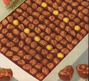 SEARS CHOCOLATES ONLY close up