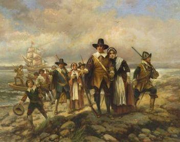 pilgrims-landing-edward-percy-moran