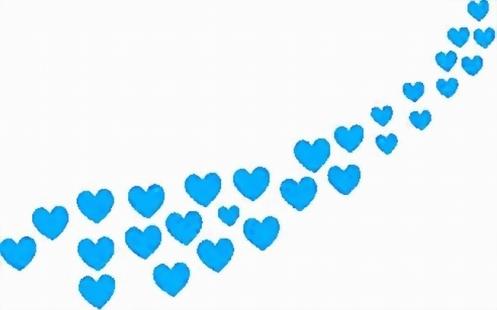 row-of-blue-hearts