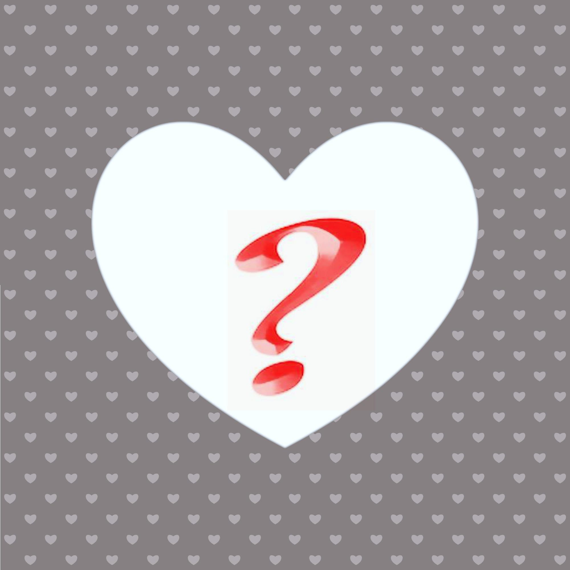 HEART QUESTION MARK