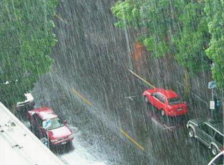 RAIN IN CITY - ENLARGED