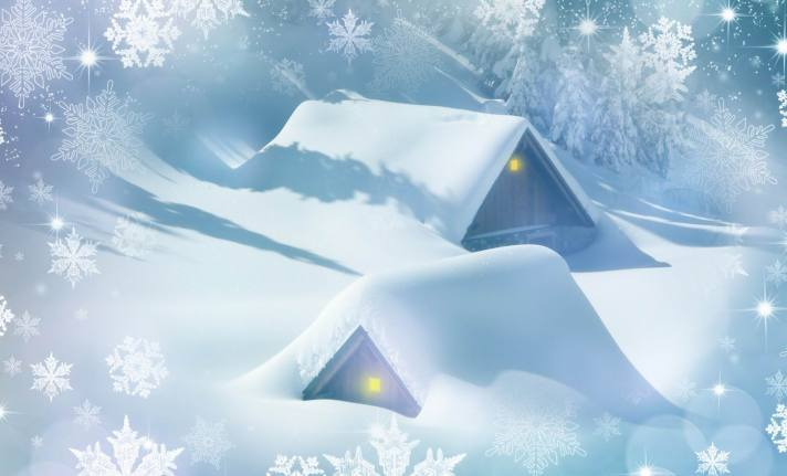 SNOWED-IN CABINS -- Darkmoon1968 -- PX