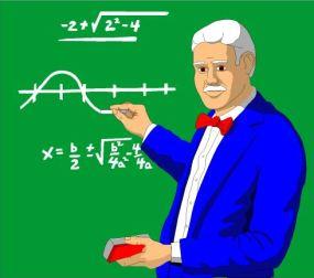 TEACHER AT GREEN BOARD