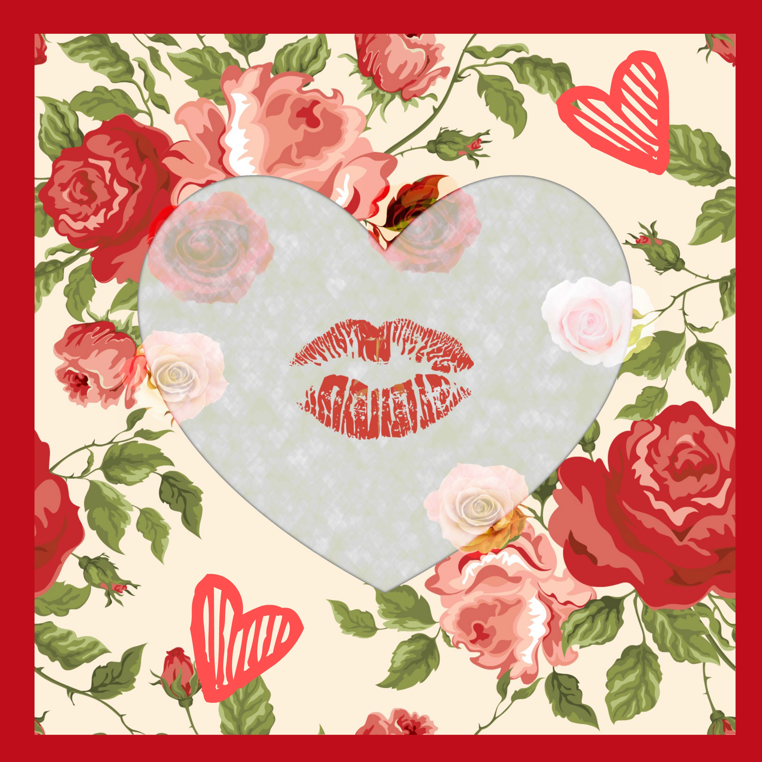 HEART, LIPS, FLORAL