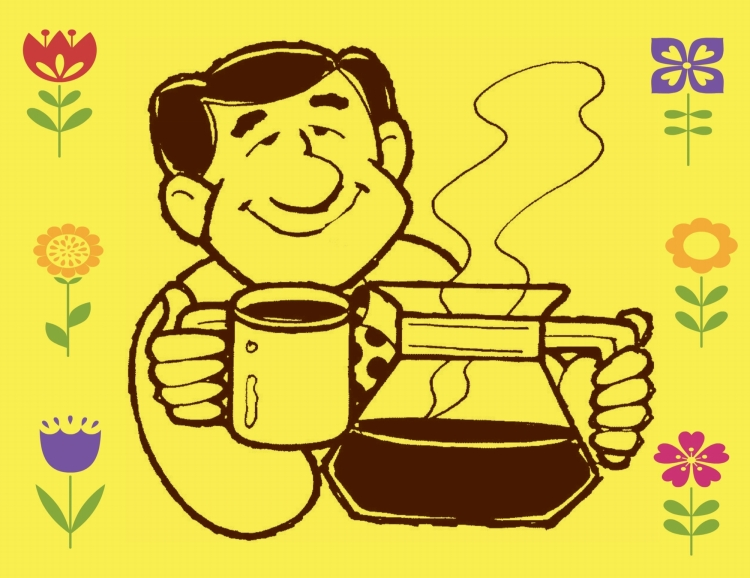 COFFEE MAN WITH FLOWERS - resized