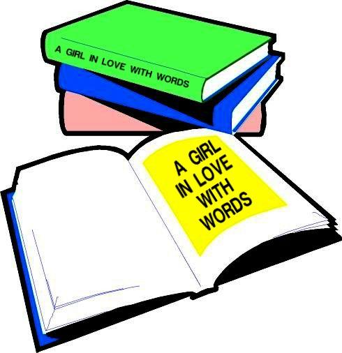 GIRL IN LOVE W. WORDS BOOKS