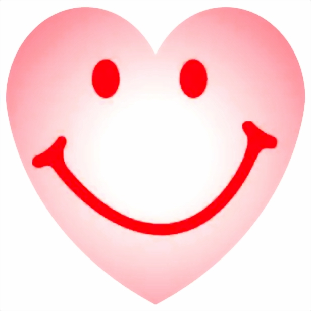 SMILEY HEART SHAPED