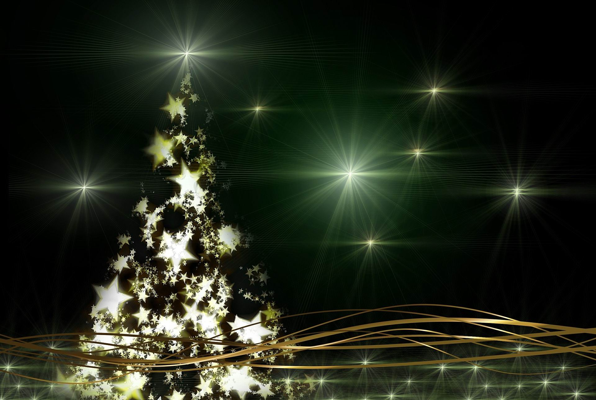 CHRISTMAS TREE, NIGHT, STAR -- Geralt -- PX