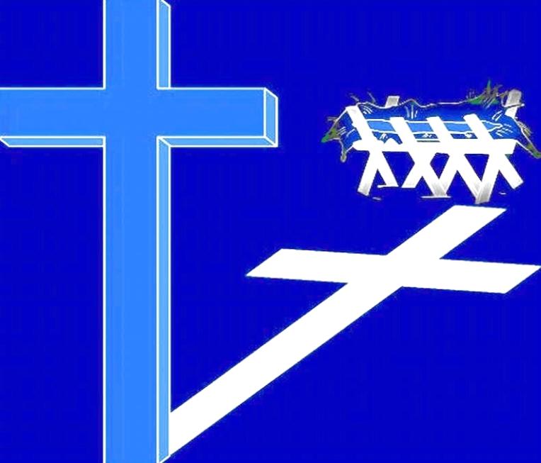 CROSS, MNGR MESSAGE -- NEG BLUE BCKGRD
