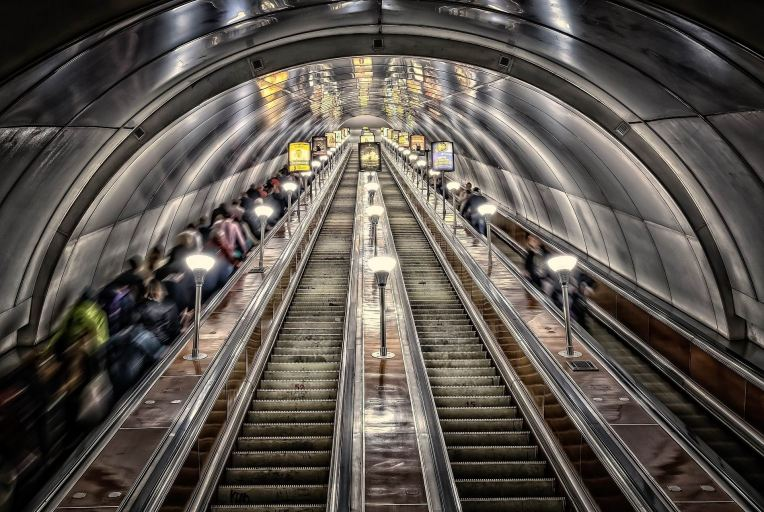 metro escalator -- tama - px