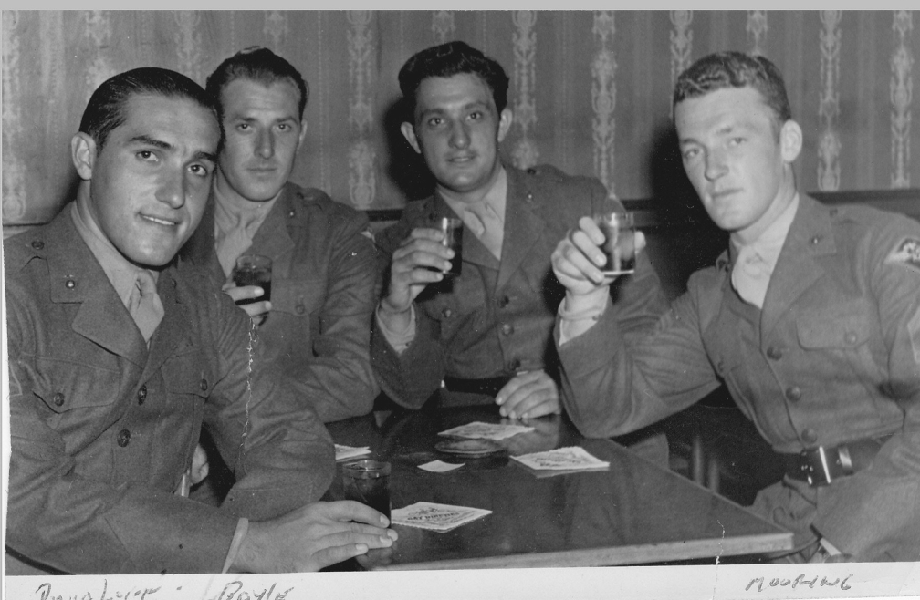 BLACKIE'S GROUP AROUND TABLE - Dad, J. Boyles (sp), Blackie, Jim Mouring (sp)
