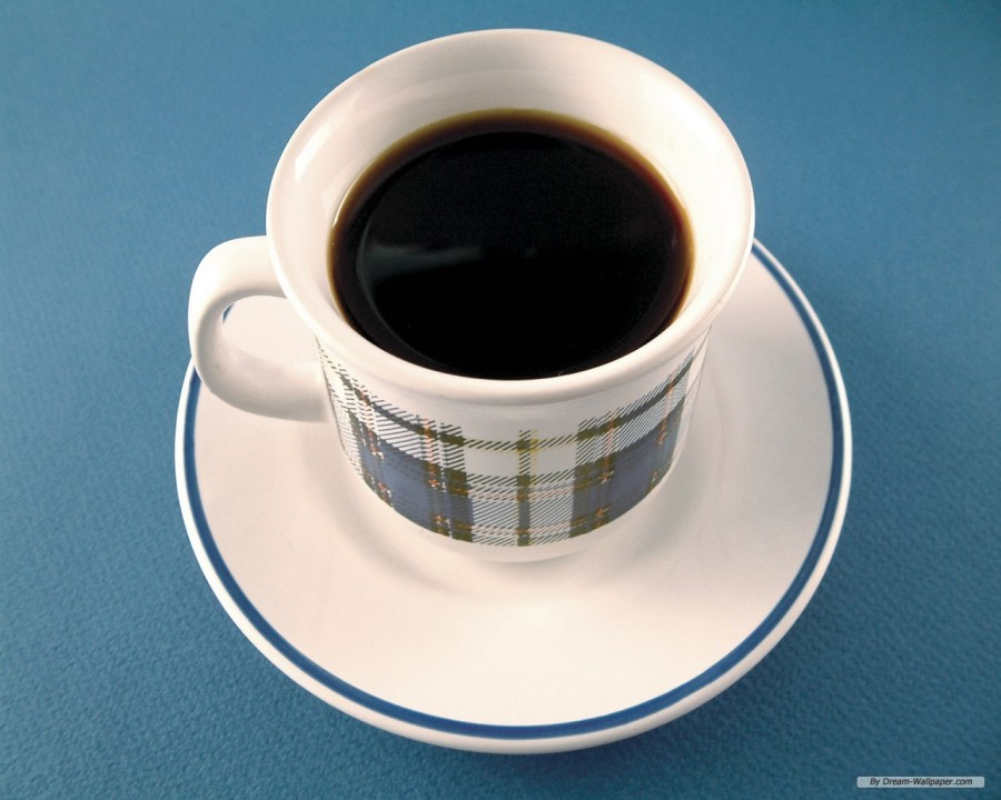 COFFEE IN PLAID CUP - FREE - DREAM-WALLPAPER