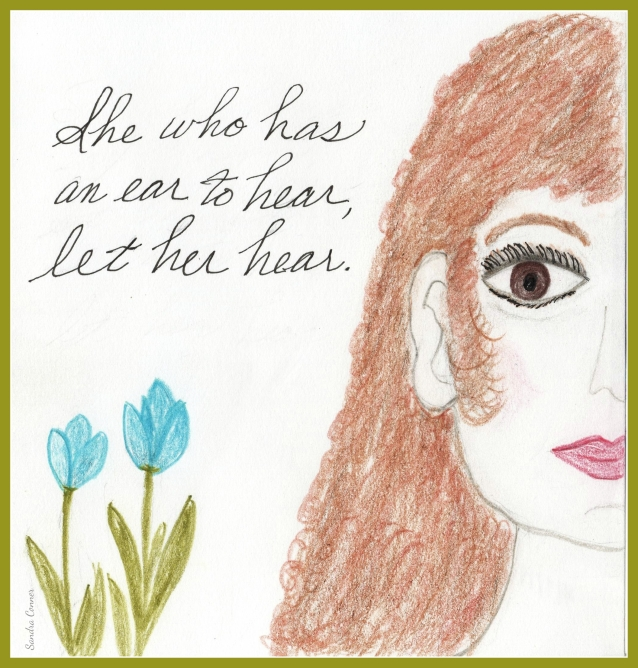 EAR TO HEAR GIRL w. frame