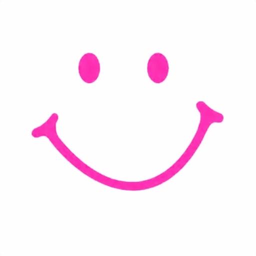 SMILEY -- NO CIRCLE - DEEP PINK