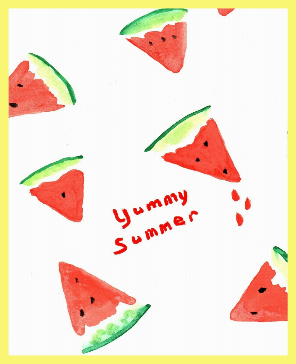 WATERMELON CARD FRONT W. FRAME