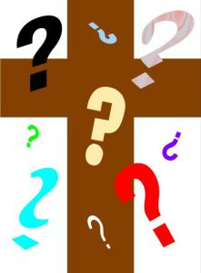 CROSS WITH QUESTION MARKS