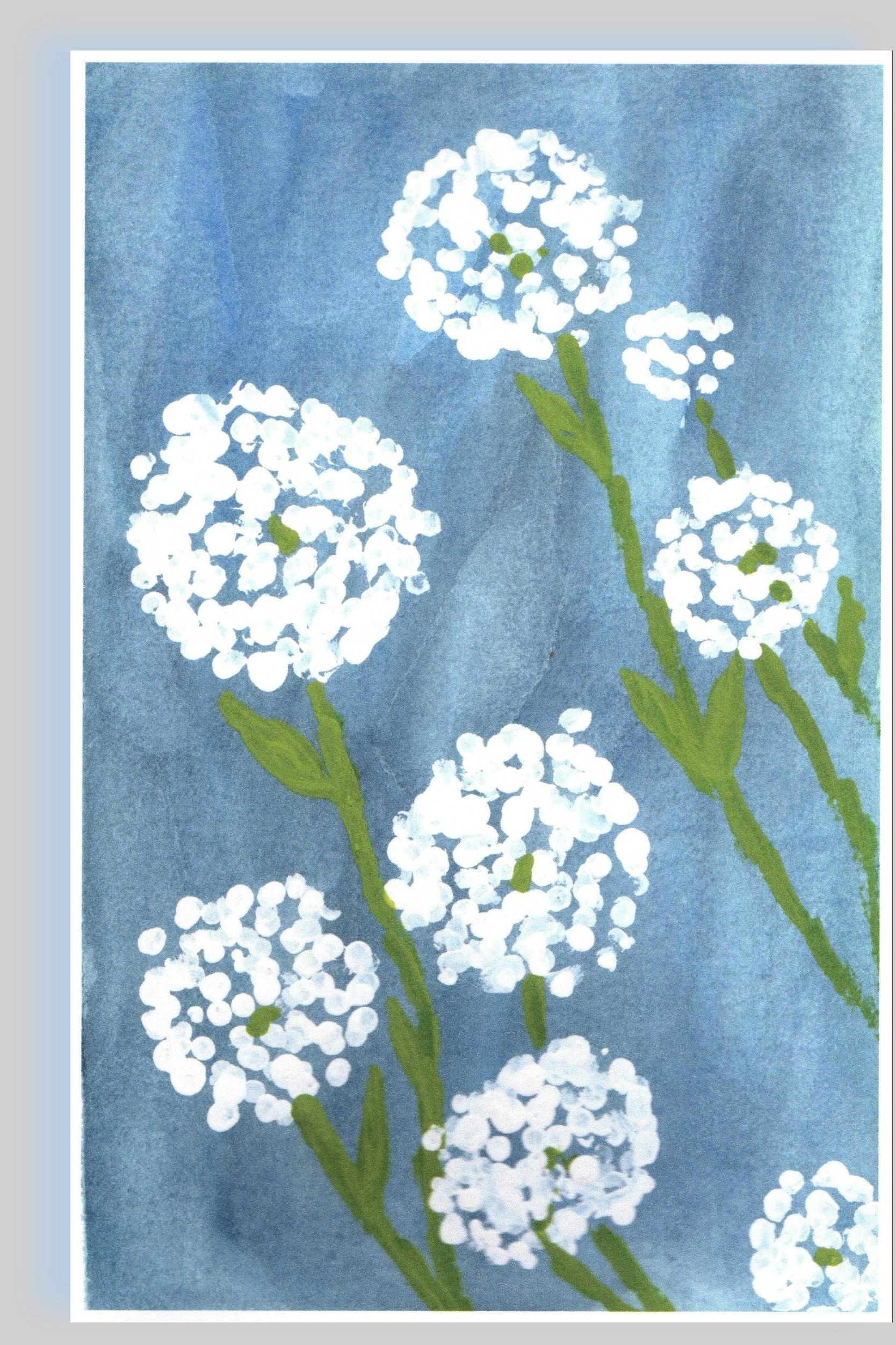 DANDELION FLOWER CARD AS PIC w. shadow