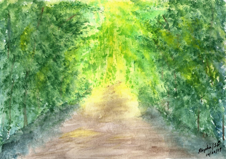 LIGHT ON MY PATH - WATERCOLOR - larger