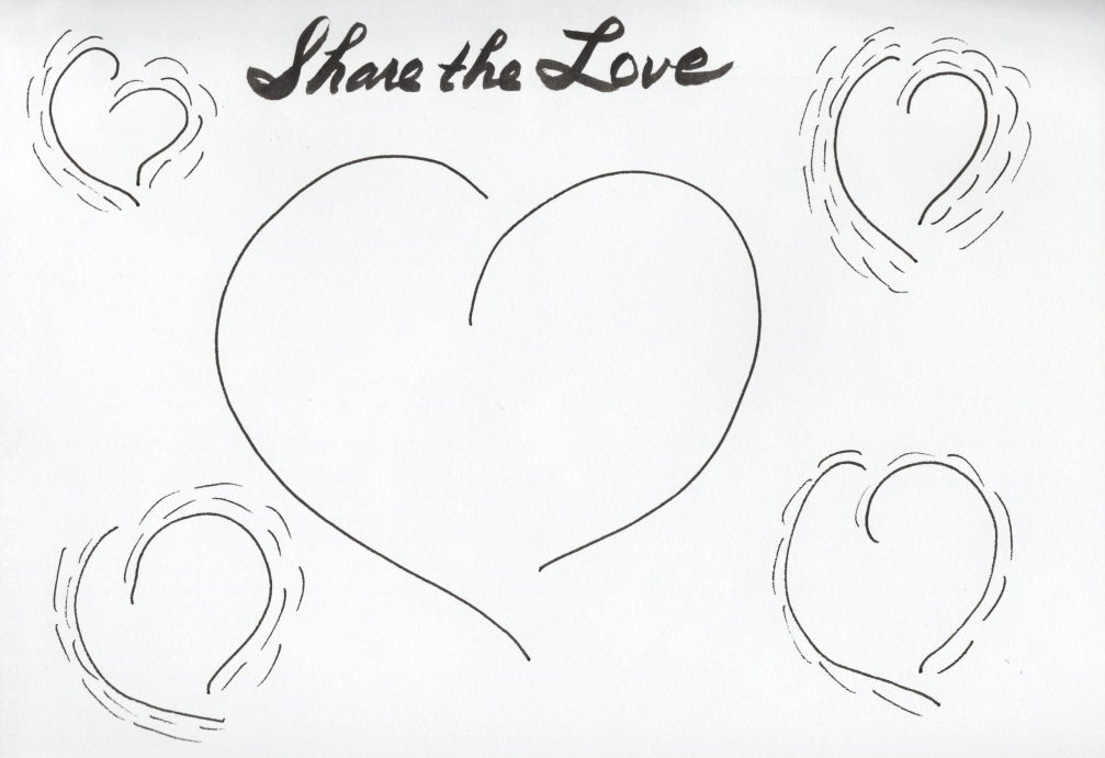 ABSTRACT HEARTS SKETCH