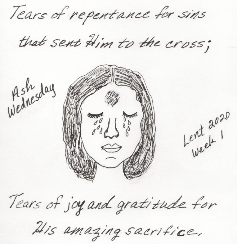ASH WEDNESDAY INK SKETCH