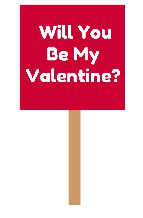 VALENTINE SIGN FOR OLD LADY
