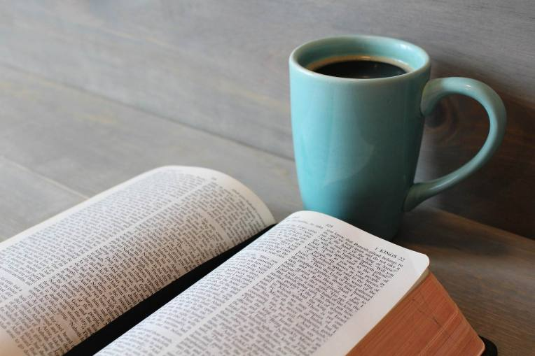 COFFEE & OPEN BIBLE -- MNPlatypus --PX