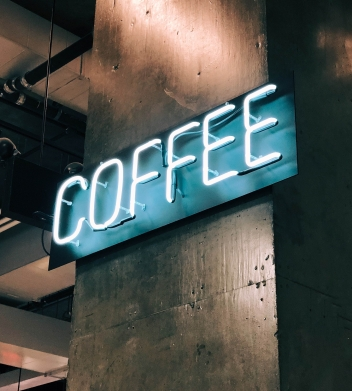 COFFEE SIGN -- Photo by Jon Tyson on Unsplash